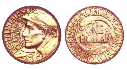 1915 S Panama PacificInternationalExposition GoldDollar 1915 S Panama Pacific International Exposition Gold Dollar