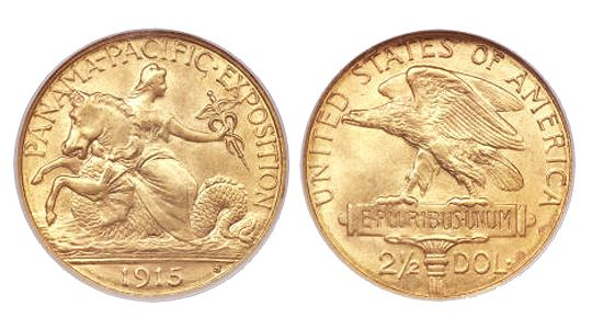 1915 S Panama PacificInternationalExposition QuarterEagle 1915 S Panama Pacific International Exposition Quarter Eagle