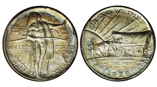 1926 39 OregonTrailMemorial HalfDollar1 1926 39 Oregon Trail Memorial Half Dollar