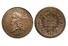 Half Cents – 1793 Flowing Hair Half Cent