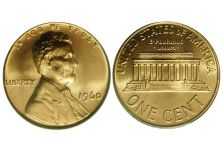 Small Cents – Lincoln Cent, Bronze/ Brass, Memorial Reverse, 1959-1982