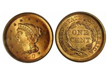 Large Cents – Braided Hair Cent, 1839-1857