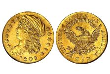 Quarter Eagles – Capped Bust Left Large 1808 Quarter Eagle