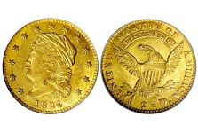 Quarter Eagles – Capped Head Left Quarter Eagle, Large Diameter, 1821-1827