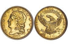 Quarter Eagles – Capped Head Left Quarter Eagle, Reduced Diameter 1829-1834