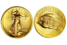 Double Eagles – 1907 $20 High Relief, Wire Rim