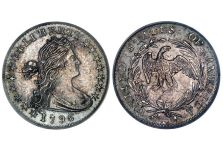 Half Dimes – Draped Bust Half Dime, Small Eagle, 1796-1797
