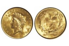 Gold Dollars – Gold Dollar Type 2 (Indian Head) 1854-1856