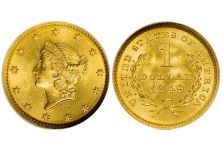 Gold Dollars – Gold Dollar Type 1 (Liberty Head) 1849-1854