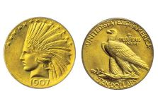 Eagles – 1907 Indian Head Eagle – No Motto w/Periods