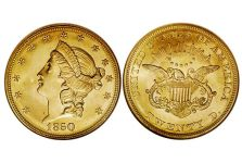 Double Eagles – Liberty Head Double Eagle, Without Motto, 1849-1866