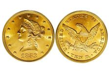 Eagles – Liberty Head No Motto Eagle, 1838-1866