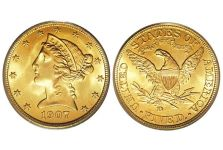 Half Eagles – Liberty Head Half Eagle, With Motto, 1866-1908