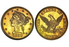 Half Eagles – Liberty Head Half Eagle, No Motto, 1839-1866