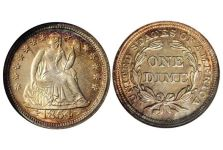 Dimes – Liberty Seated Dime, Stars, Drapery, Arrows, 1853-1855