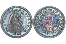 Dimes – Liberty Seated Dime, Stars, Drapery, 1840-1860