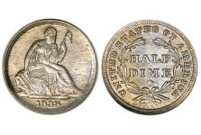 Half Dimes – Liberty Seated Half Dime, No Stars, 1837-1838