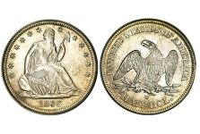 Half Dollars – Liberty Seated Half Dollar, No Motto, With Drapery, 1839-1866