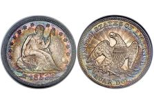 Quarters – Liberty Seated Quarter, Arrows and Rays, 1853