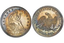 Quarters – Liberty Seated Quarter, Arrows, 1854-1855
