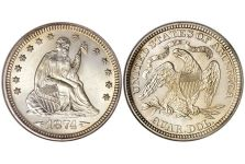 Quarters – Liberty Seated Quarter, Arrows, 1873-1874
