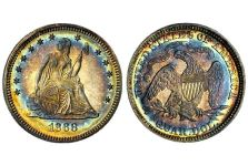 Quarters – Liberty Seated Quarter with motto 1866-1891