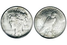 Dollars – 1921 Peace Dollar – High Relief