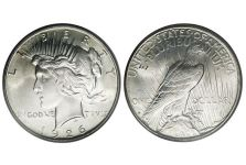 Dollars – Peace Dollar, Low Relief, 1922-1935