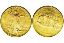Double Eagles – Saint-Gaudens Double Eagle, Without Motto, 1907-1908