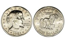 Dollars – Susan B. Anthony Dollar, 1979-1999