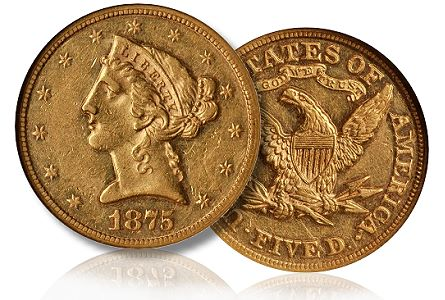1875 5 bm nov2010 The Record Setting Sale of an 1875 Half Eagle: What Does it Portend?
