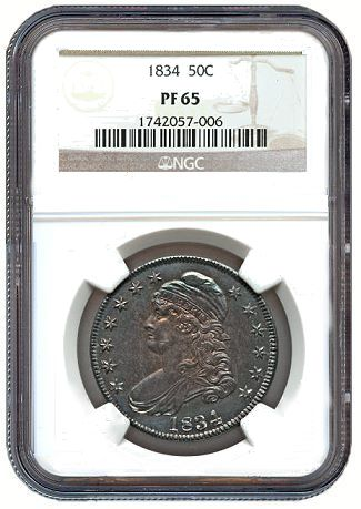 Coin Profiles: Unique 1834 Original Half Dollar O-104, Ex: Brand, Norweb