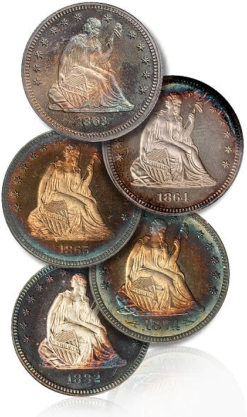 Coin Rarities & Related Topics: The Malibu Collection of Proof Liberty Seated Quarters, with information for beginning and intermediate collectors
