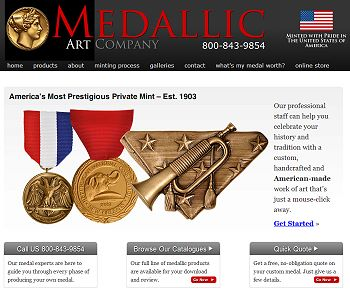 Medallic Art Company Announces New Web Site