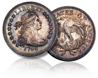 Coin Rarities & Related Topics: 1796 quarter, San Francisco Liberty Seated Dimes, 1931 Denver Mint $20 gold coin