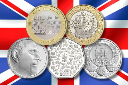 British Royal Mint Reveals 2011 Commemorative Coin Themes