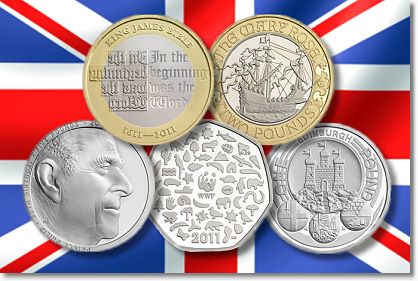 British 20112 British Royal Mint Reveals 2011 Commemorative Coin Themes