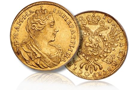 Russian gold ducat anna baldwins ny2011 Russian Coin Rarities Steal The Show In New York