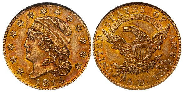 dw 1814 5 What Do Original United States Gold Coins Look Like?