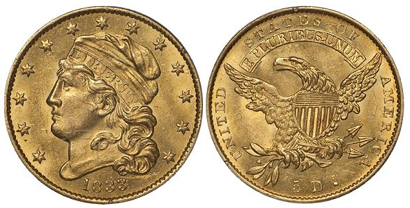 dw 1833 5 What Do Original United States Gold Coins Look Like?