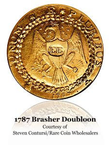 1787 brasher rcw ana09 Coin Rarities & Related Topics: A 1907 $10 Gold piece becomes the latest US Coin to be Auctioned for more than $2 million