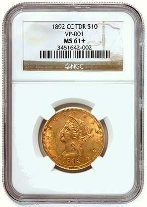 1892 cc 10 ngcvp 11 NGC Certifies Significant 1892 Carson City Gold Eagle Variety