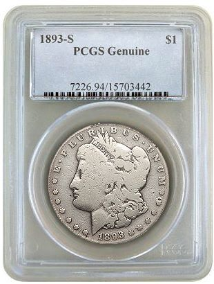 1893 s morgan genuine pcgs One size fits all pricing approach doesn't always work with Morgan dollars