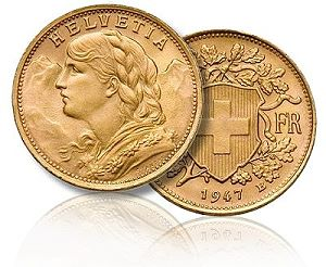 swiss helvetica gold small Are Rare Coins Worth Owning Now?