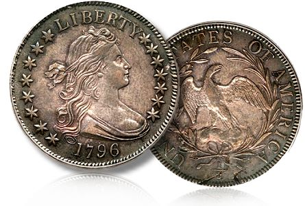 1796 50c ha sac1 1796 Half Dollar Leads $9.68 million Sacramento Coin Auction