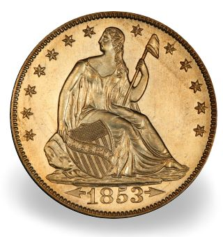 1854 arrows 50c morelan The Spectacular Nevada Accumulation and the Morelan Collection of Type Coins
