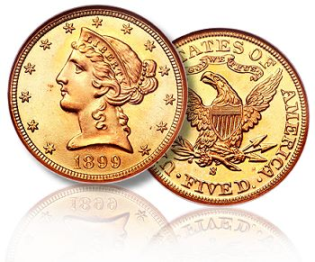 1899S 5 ngc69 fun2010 Liberty Head Half Eagles Gold Coins: A Guide for Collectors