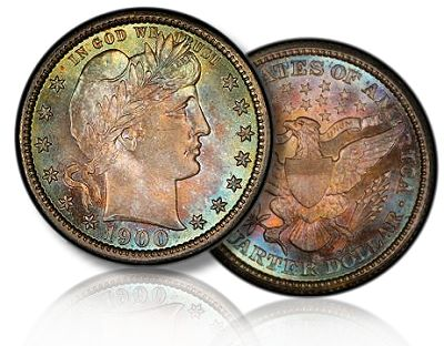 1900 o barber morelan The Spectacular Nevada Accumulation and the Morelan Collection of Type Coins