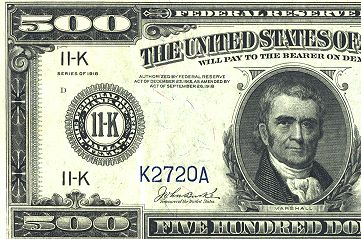 Rare Fr. 1132-K 1918 $500 Federal Reserve Note Being Offered at Central States