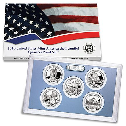 2010 ATB proof set 2011 United States Mint America the Beautiful Quarters Proof Set™ Available March 17